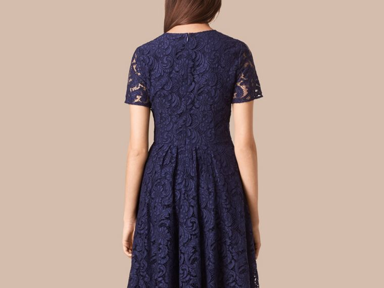 Bright regency blue French Lace A-line Dress - cell image 1