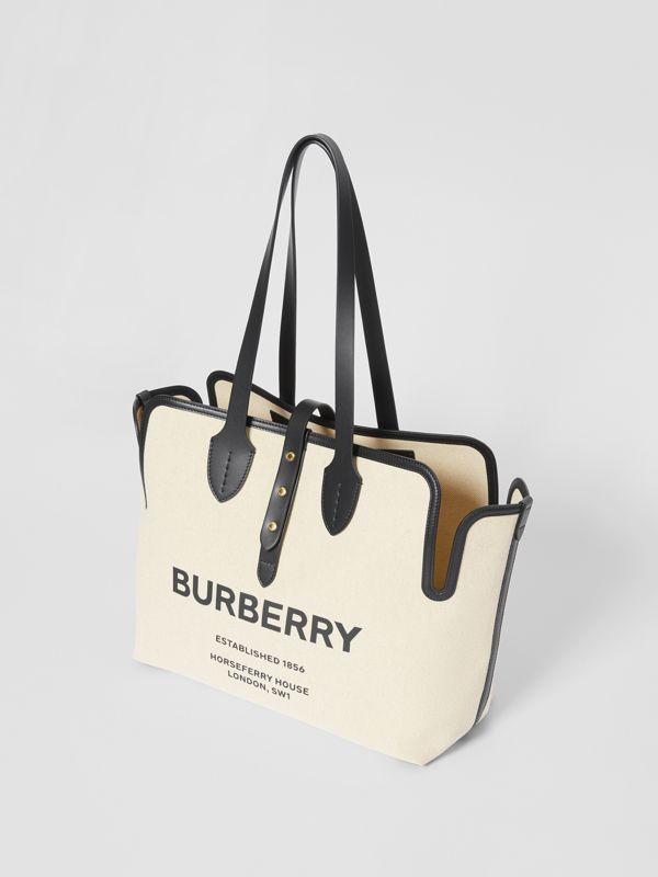 The Medium Soft Cotton Canvas Belt Bag in Black - Women | Burberry United Kingdom - cell image 3