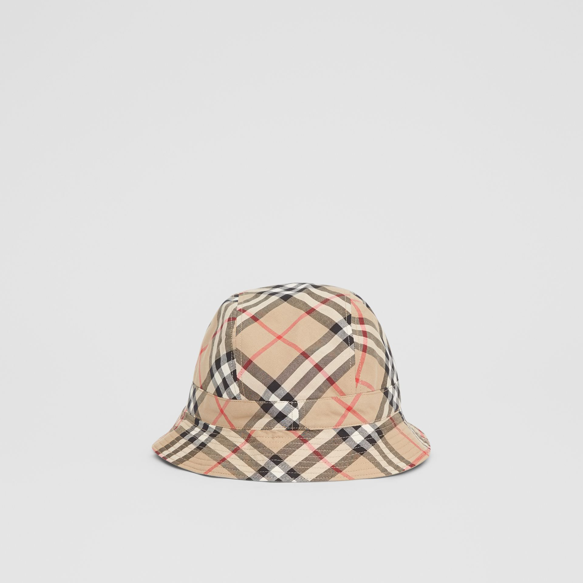 Reversible Vintage Check Bucket Hat in Archive Beige - Children | Burberry - gallery image 0