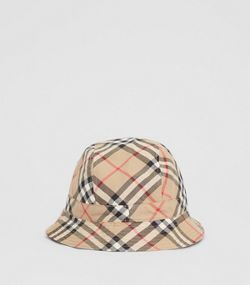24c1042f658 Reversible Vintage Check Bucket Hat in Archive Beige