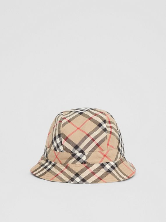 b5150aa5a21 Reversible Vintage Check Bucket Hat in Archive Beige