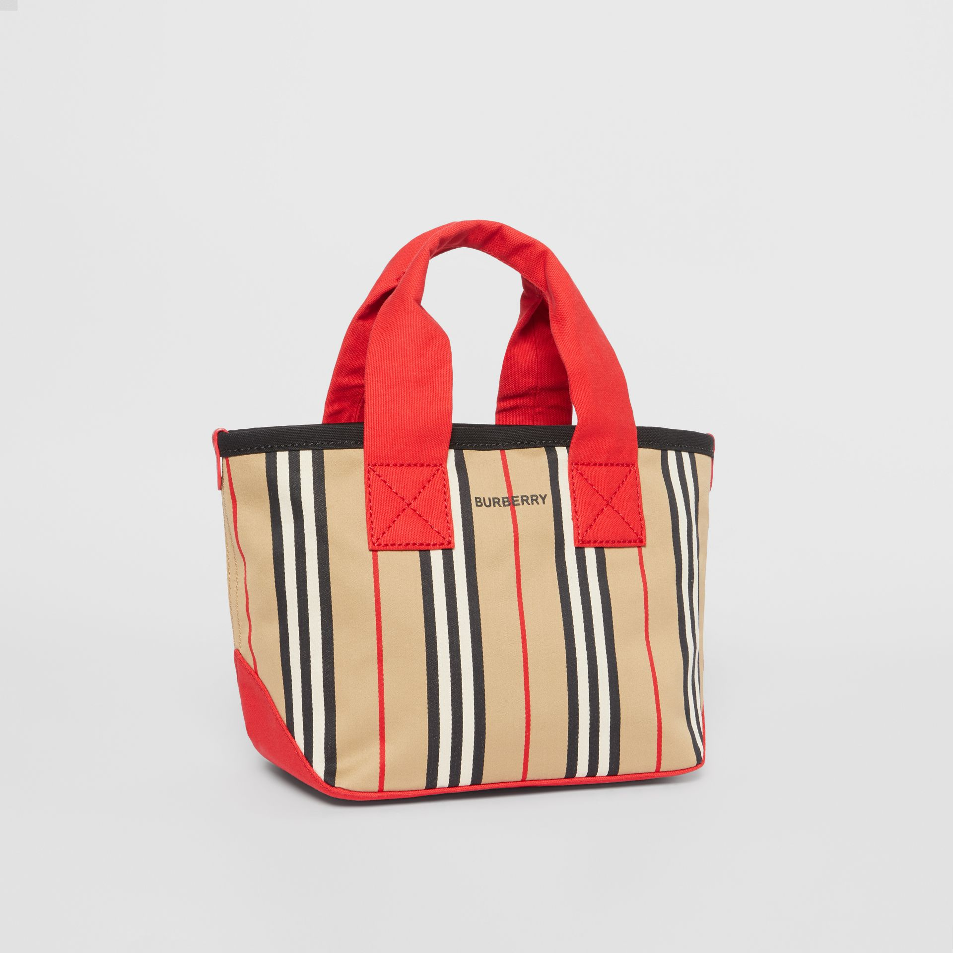 Icon Stripe Cotton Tote Bag in Honey - Children | Burberry - gallery image 4
