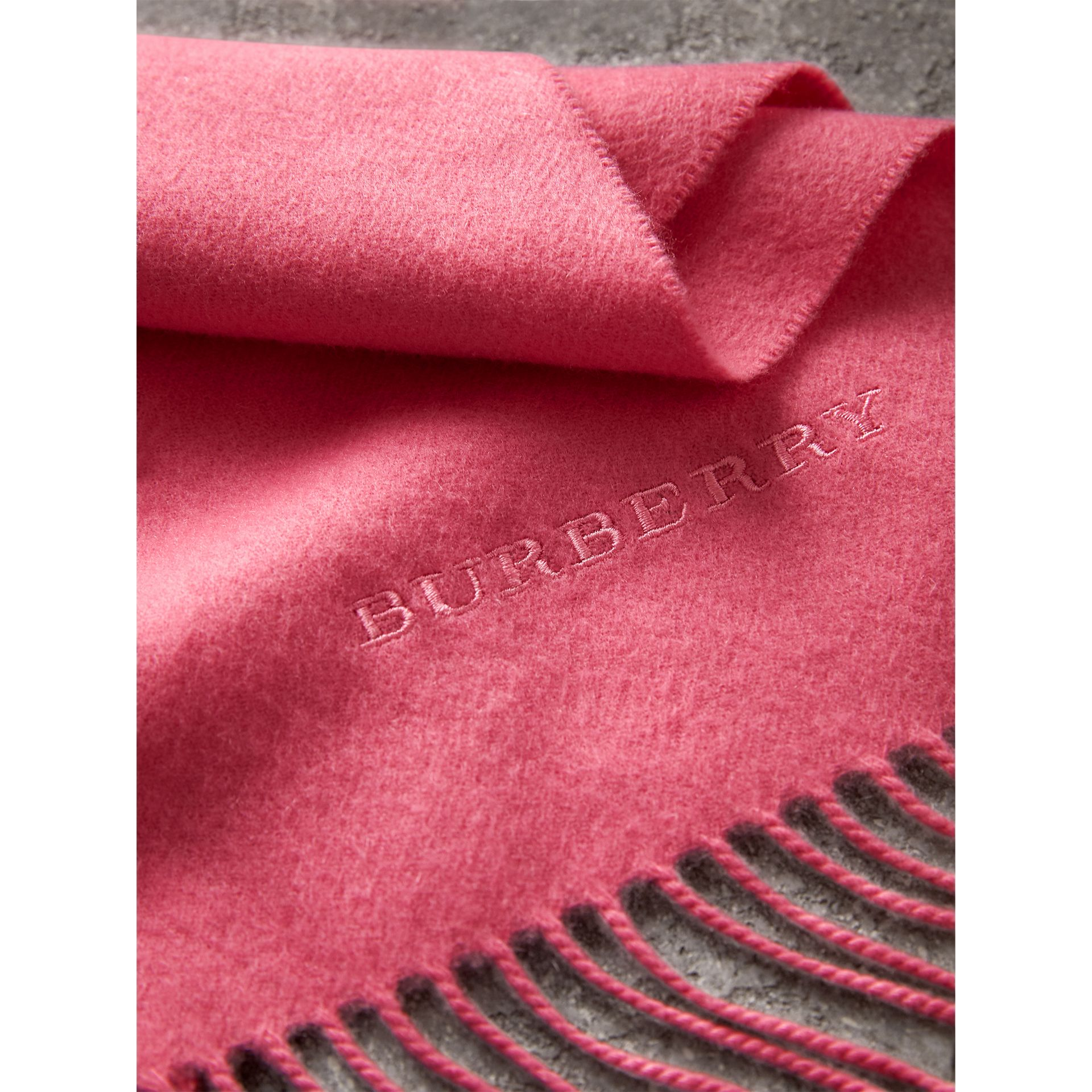 The Classic Cashmere Scarf in Rose Pink | Burberry Singapore - gallery image 5