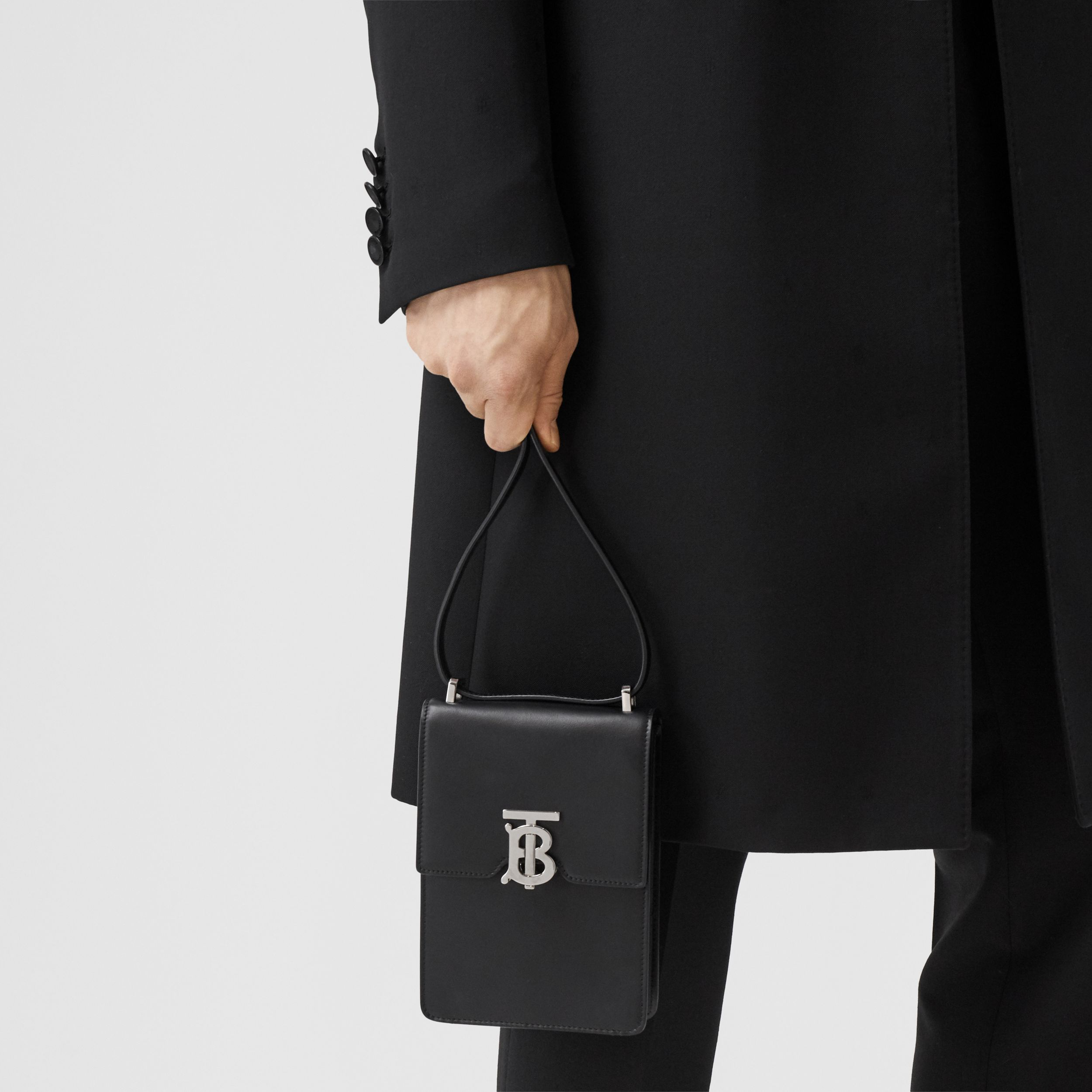 Leather Robin Bag in Black | Burberry Canada - 4