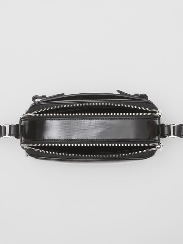 Mini Horseferry Print Coated Canvas Camera Bag in Black | Burberry United Kingdom - cell image 3