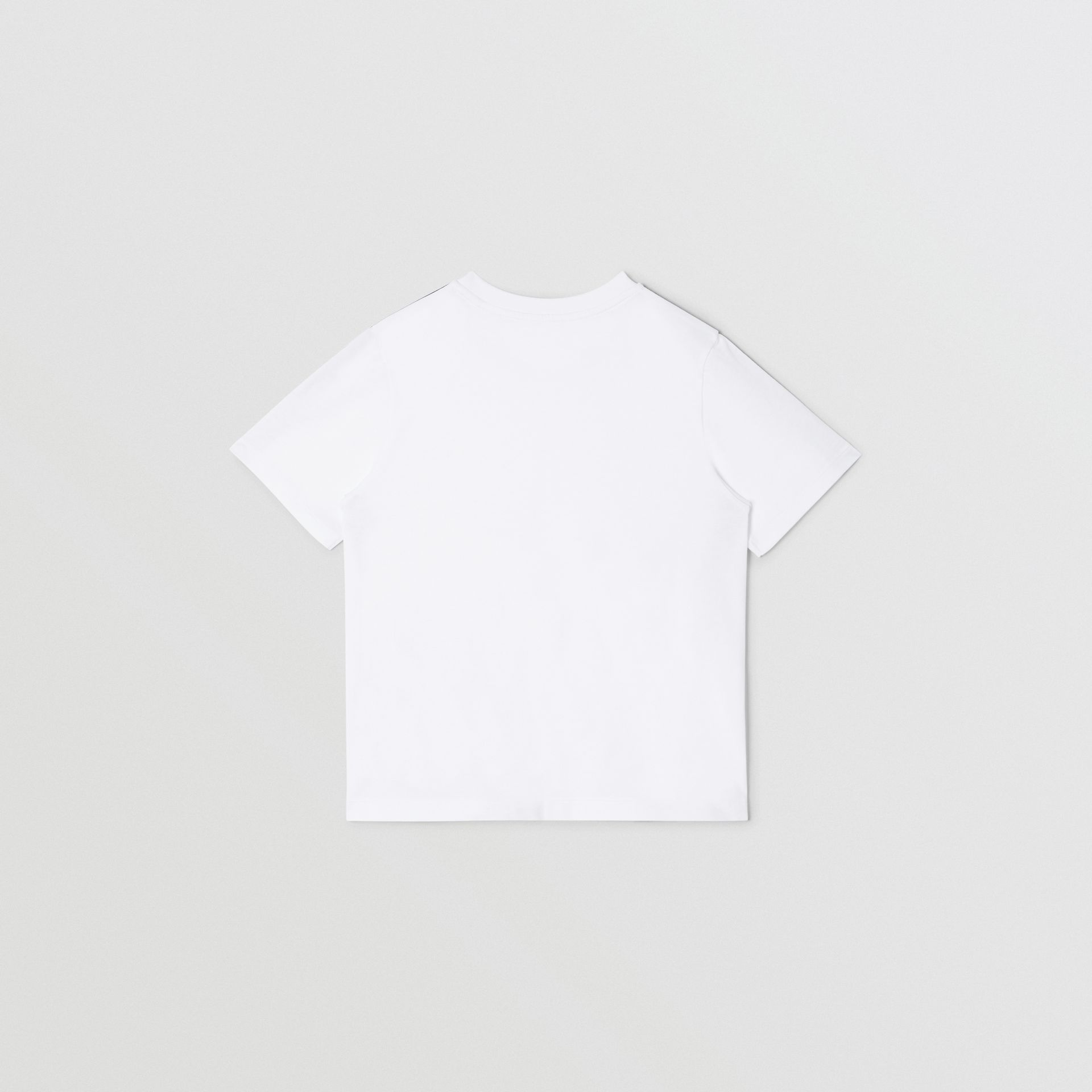 Logo Tape Cotton T-shirt in White | Burberry United Kingdom - gallery image 4