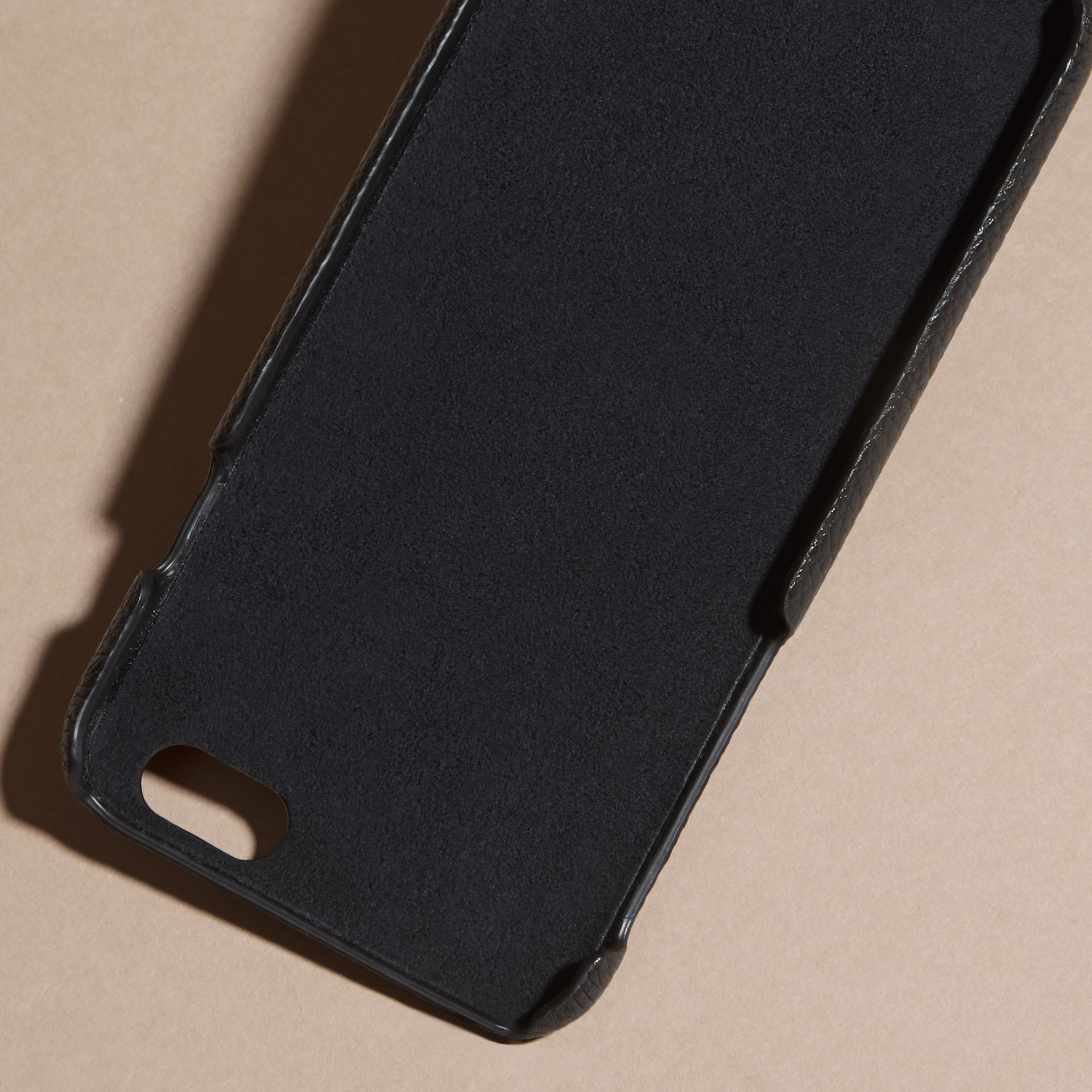 Grainy Leather iPhone 6 Case in Black | Burberry Australia - gallery image 4