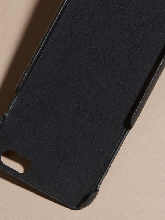 Grainy Leather iPhone 6 Case in Black | Burberry Australia - cell image 3