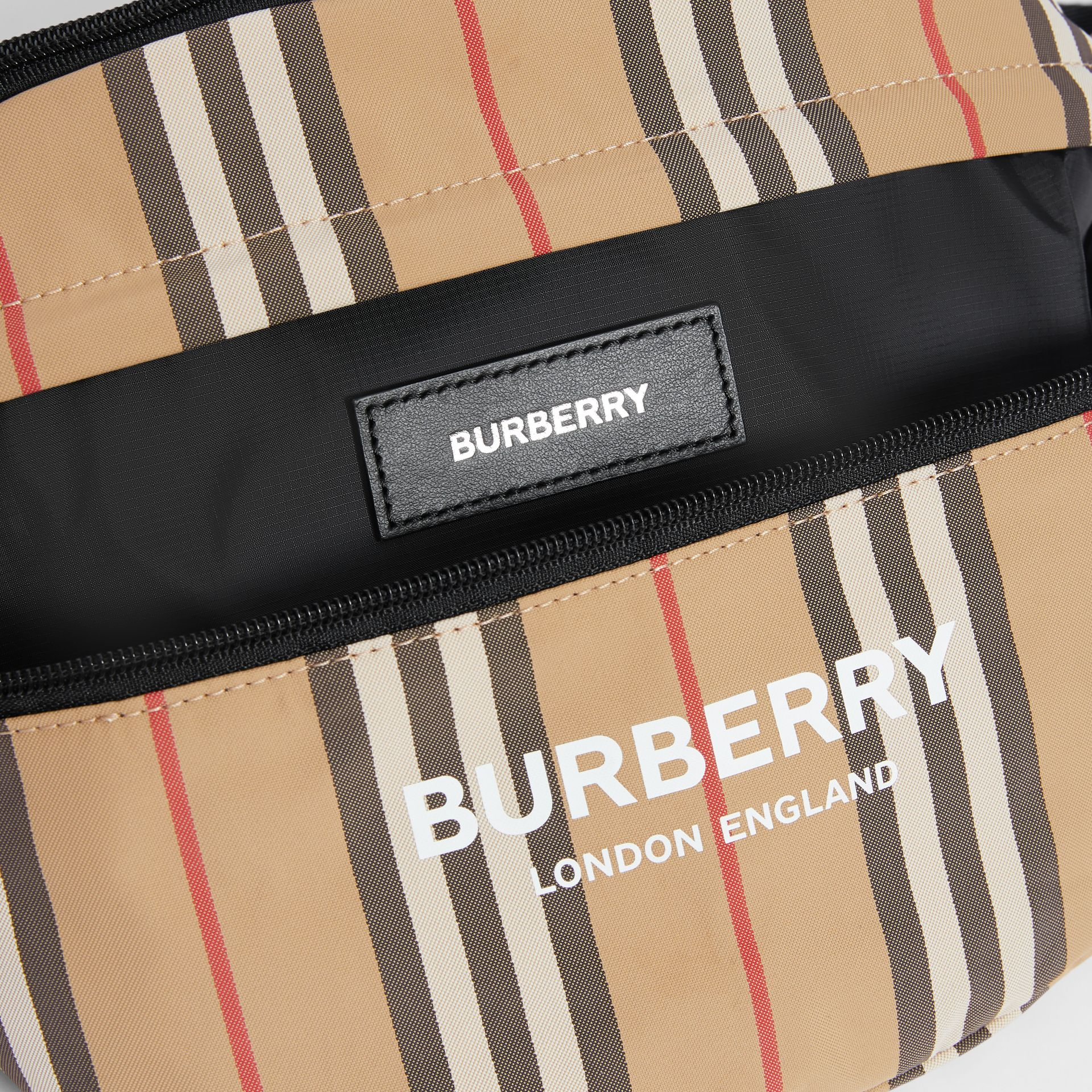 Vintage Check and Icon Stripe Convertible Bum Bag in Archive Beige - Children | Burberry - gallery image 3