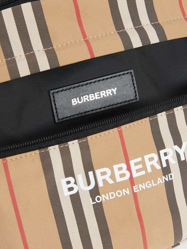 Vintage Check and Icon Stripe Convertible Bum Bag in Archive Beige - Children | Burberry - cell image 3