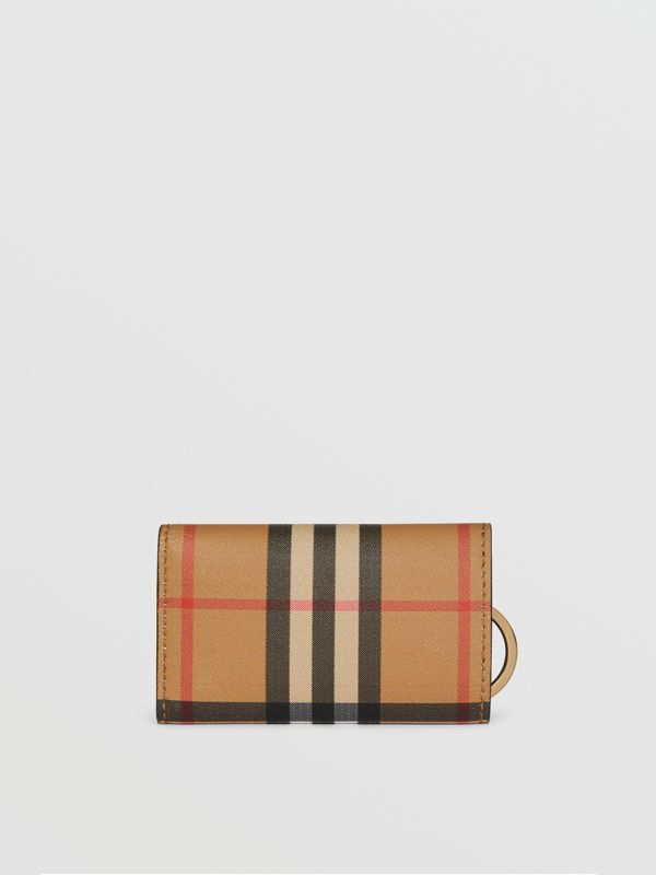 Vintage Check and Leather Key Case in Black - Women | Burberry United Kingdom - cell image 2