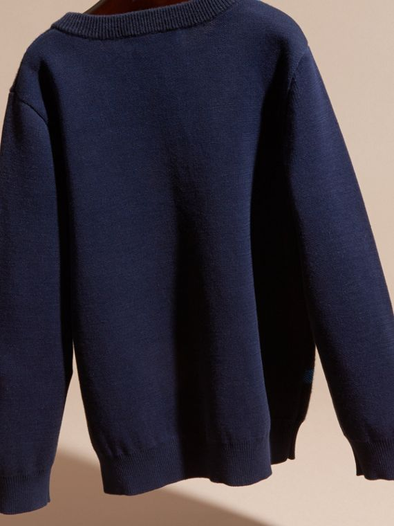 Check Wool Cashmere Blend Sweater - cell image 3