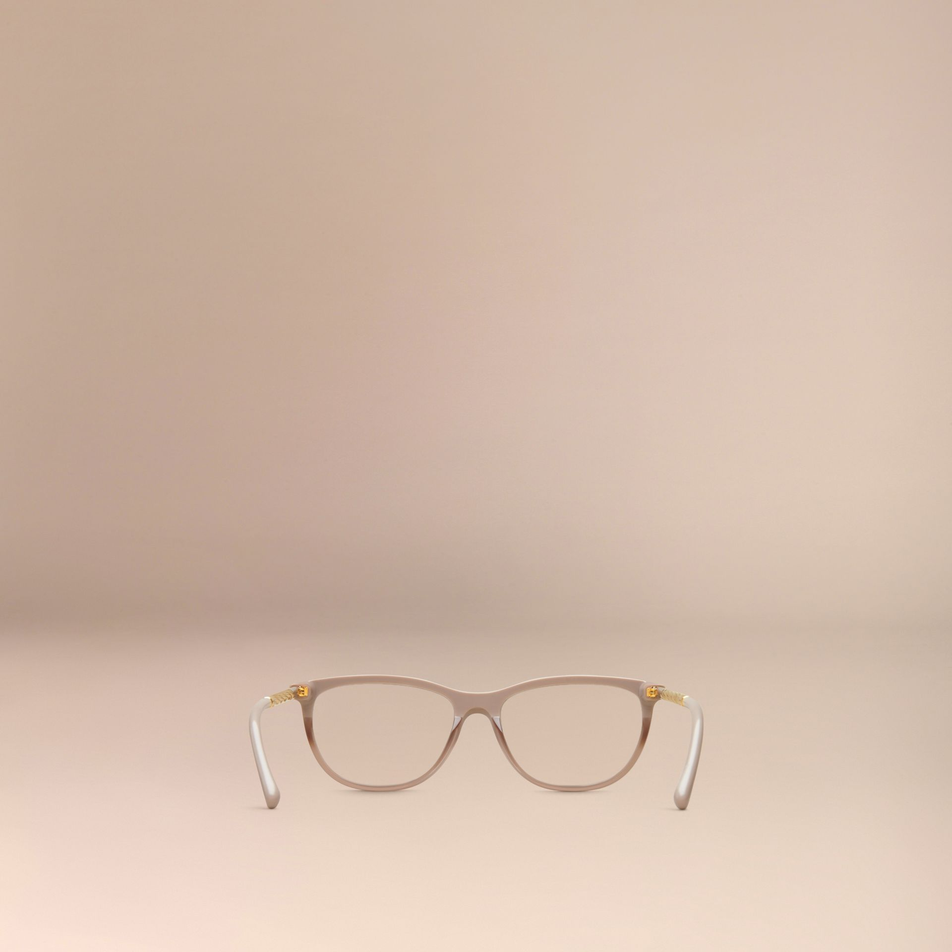 Gabardine Collection Cat-Eye Optical Frames in Honey - gallery image 4