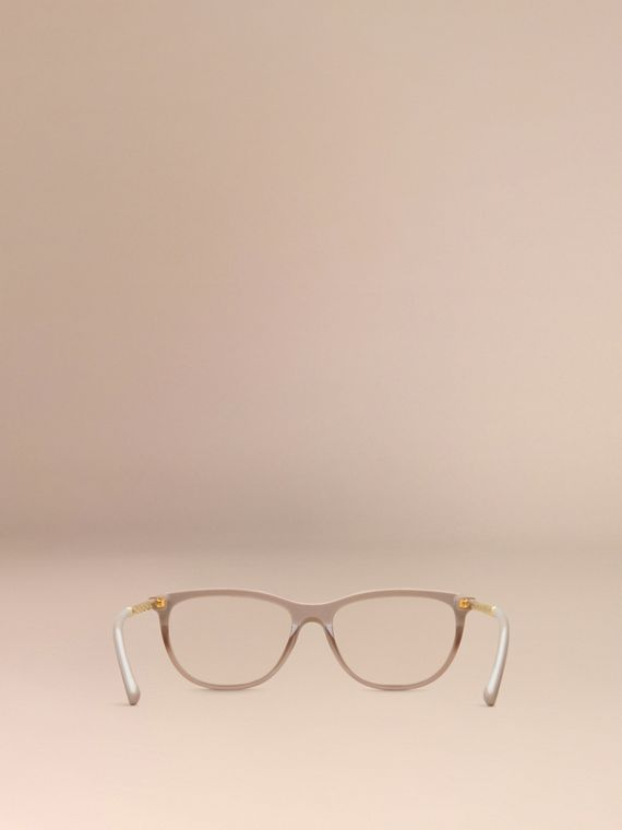 Gabardine Collection Cat-Eye Optical Frames in Honey - cell image 3