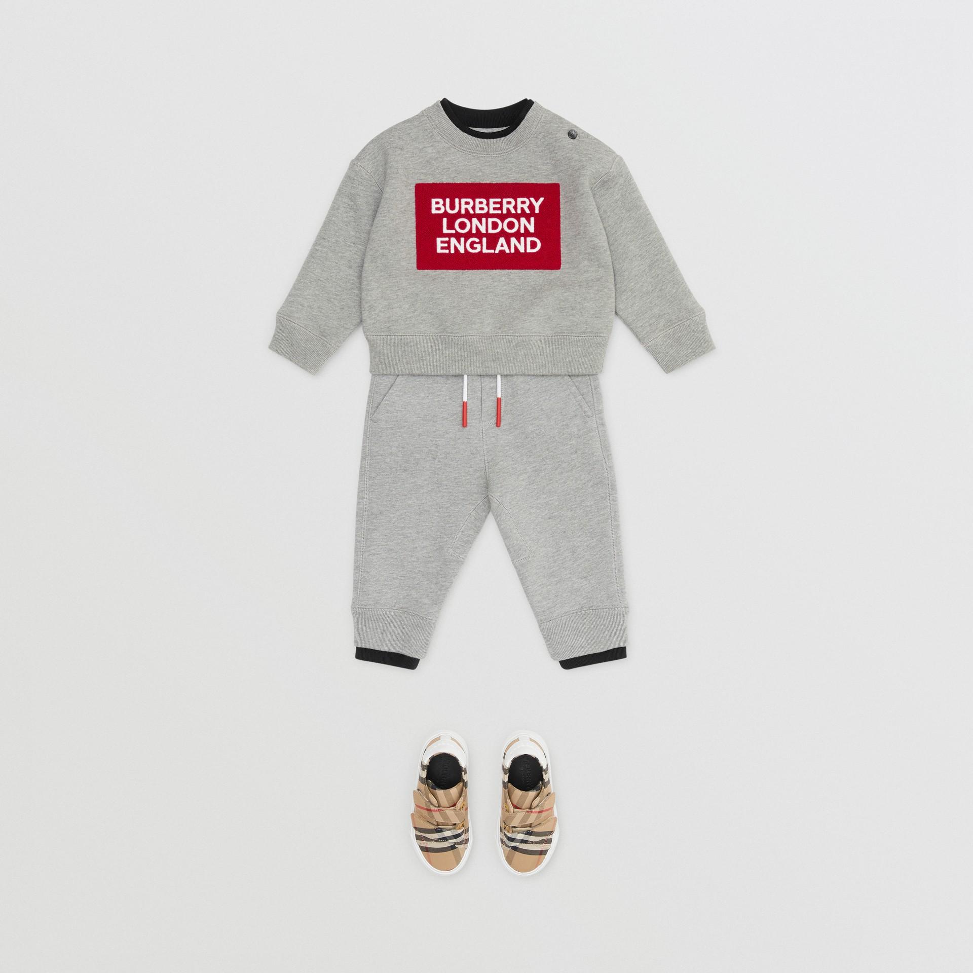 Logo Detail Jersey Sweatshirt in Grey Melange - Children | Burberry United Kingdom - gallery image 3
