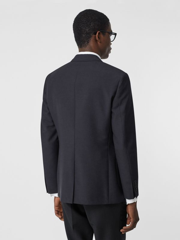 Slim Fit Monogram Motif Wool Mohair Tailored Jacket in Navy - Men | Burberry - cell image 2
