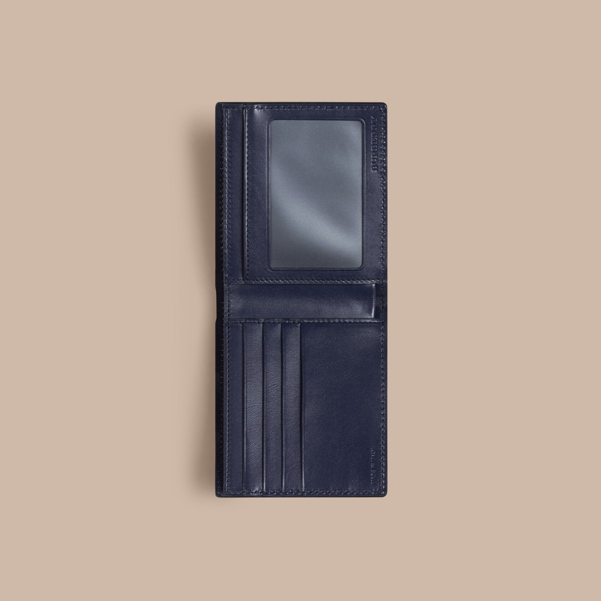 London Leather ID Wallet in Dark Navy - Men | Burberry - gallery image 4