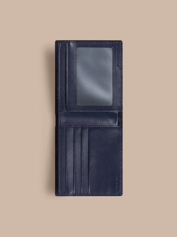 London Leather ID Wallet in Dark Navy - Men | Burberry - cell image 3