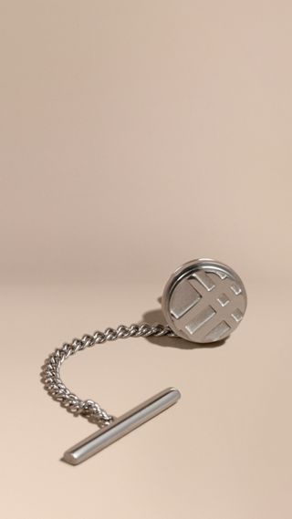Check-engraved Tie Tack