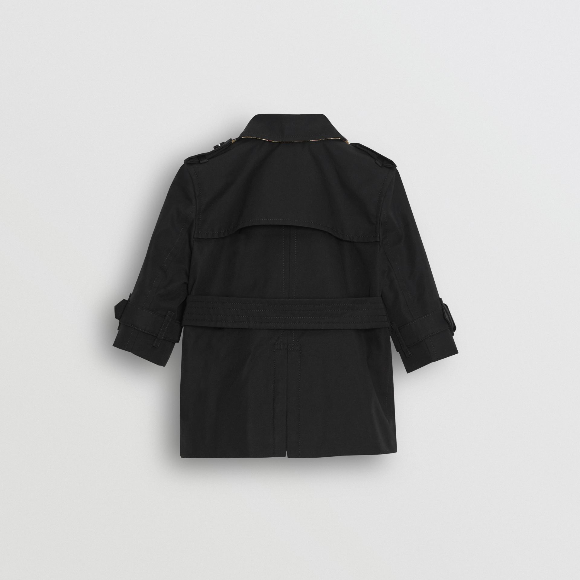 Cotton Gabardine Trench Coat in Black - Children | Burberry United States - gallery image 3