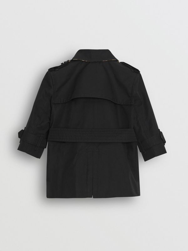 Cotton Gabardine Trench Coat in Black - Children | Burberry Australia - cell image 3