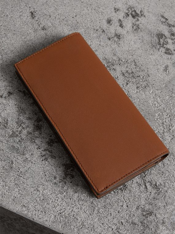 Trench Leather Continental Wallet in Tan - Men | Burberry - cell image 2