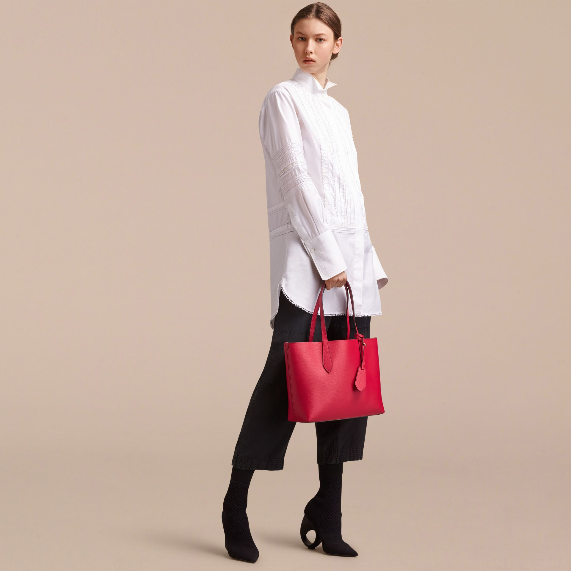 The Small Reversible Tote in Trompe L'oeil Print - gallery image 3
