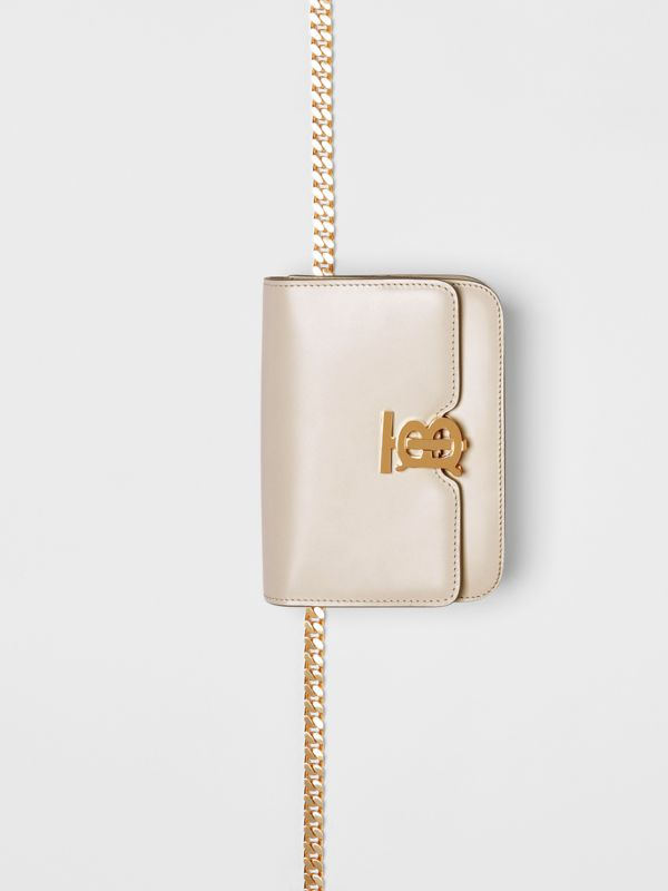 Belted Leather TB Bag in Vanilla - Women | Burberry - cell image 3