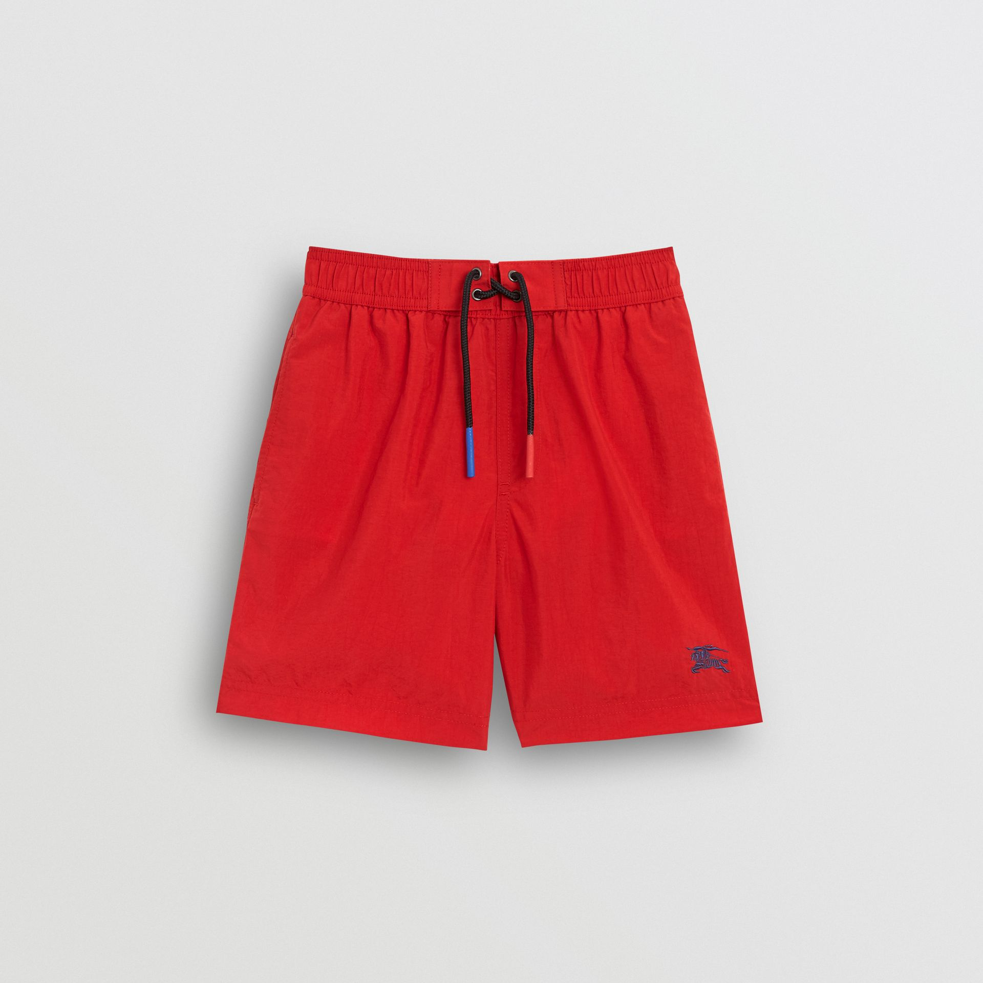 Drawcord Swim Shorts in Military Red | Burberry - gallery image 0
