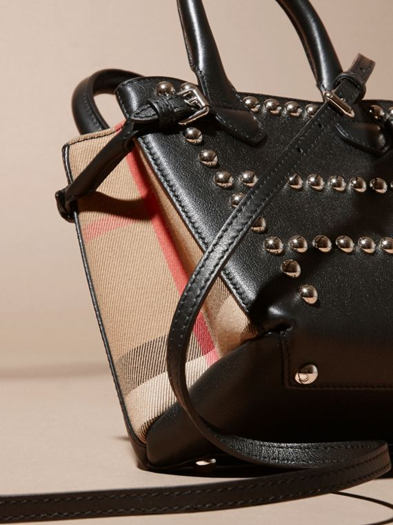 The Baby Banner in Studded Leather and House Check - cell image 3