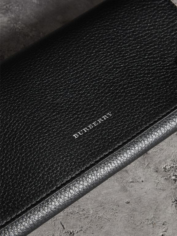 Two-tone Leather Continental Wallet in Black - Women | Burberry Hong Kong - cell image 1