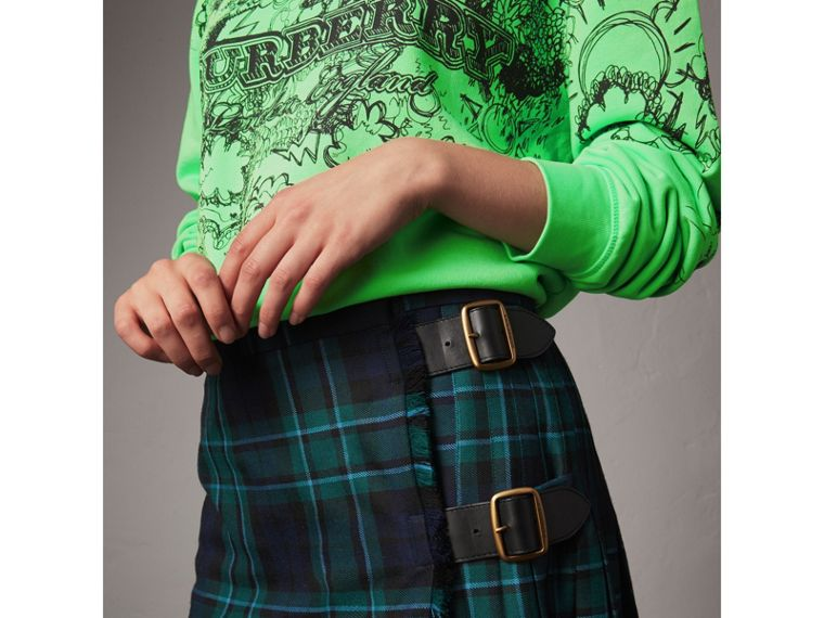 Tartan Wool Kilt in Pine Green - Women | Burberry - cell image 1