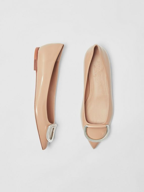 The Leather D-ring Flat in Nude Blush