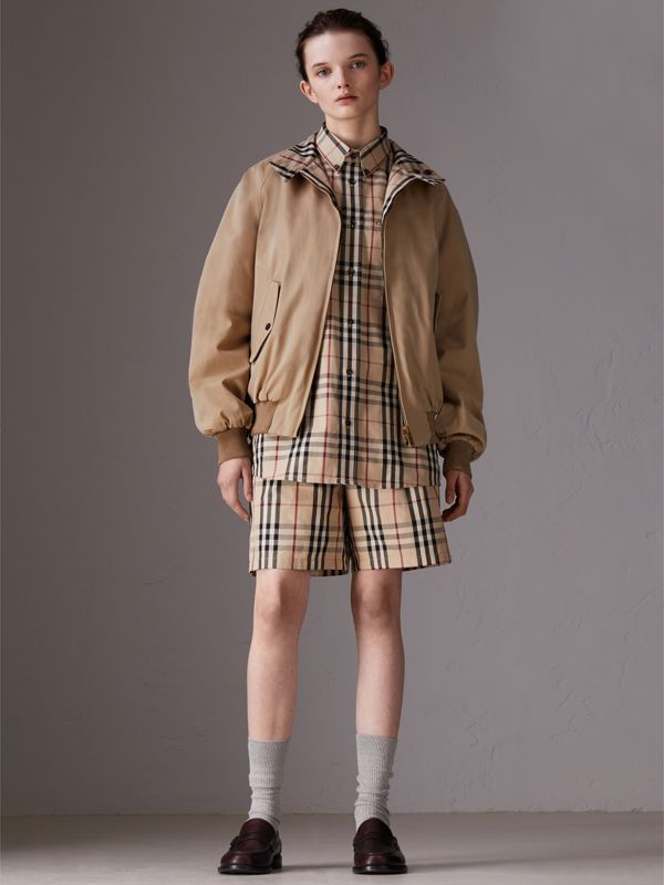 Gosha x Burberry Tailored Shorts in Honey | Burberry United States - cell image 3