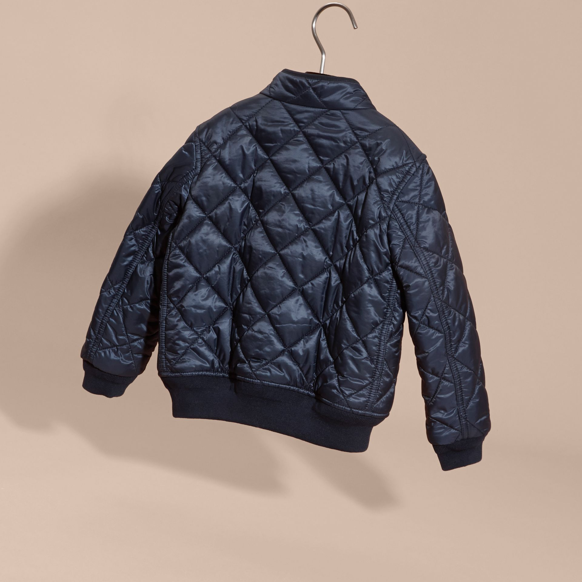 Ink blue Lightweight Quilted Bomber Jacket - gallery image 4