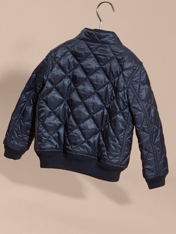 Ink blue Lightweight Quilted Bomber Jacket - cell image 3