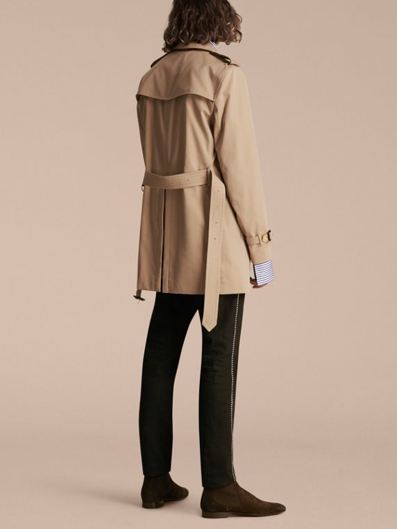 Honey Trench Coat with Regimental Piping Honey - cell image 2