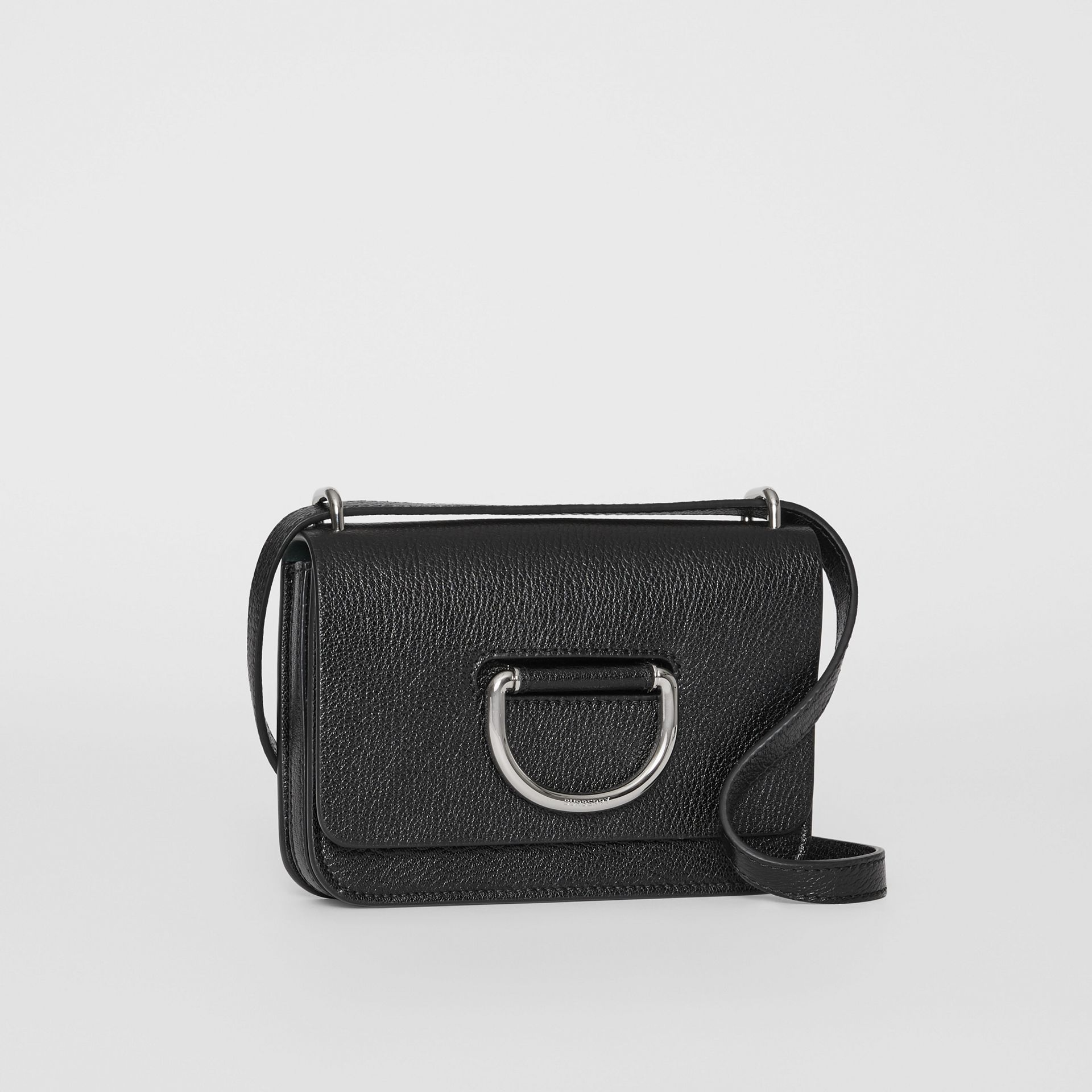 The Mini Leather D-ring Bag in Black - Women | Burberry United States - gallery image 6