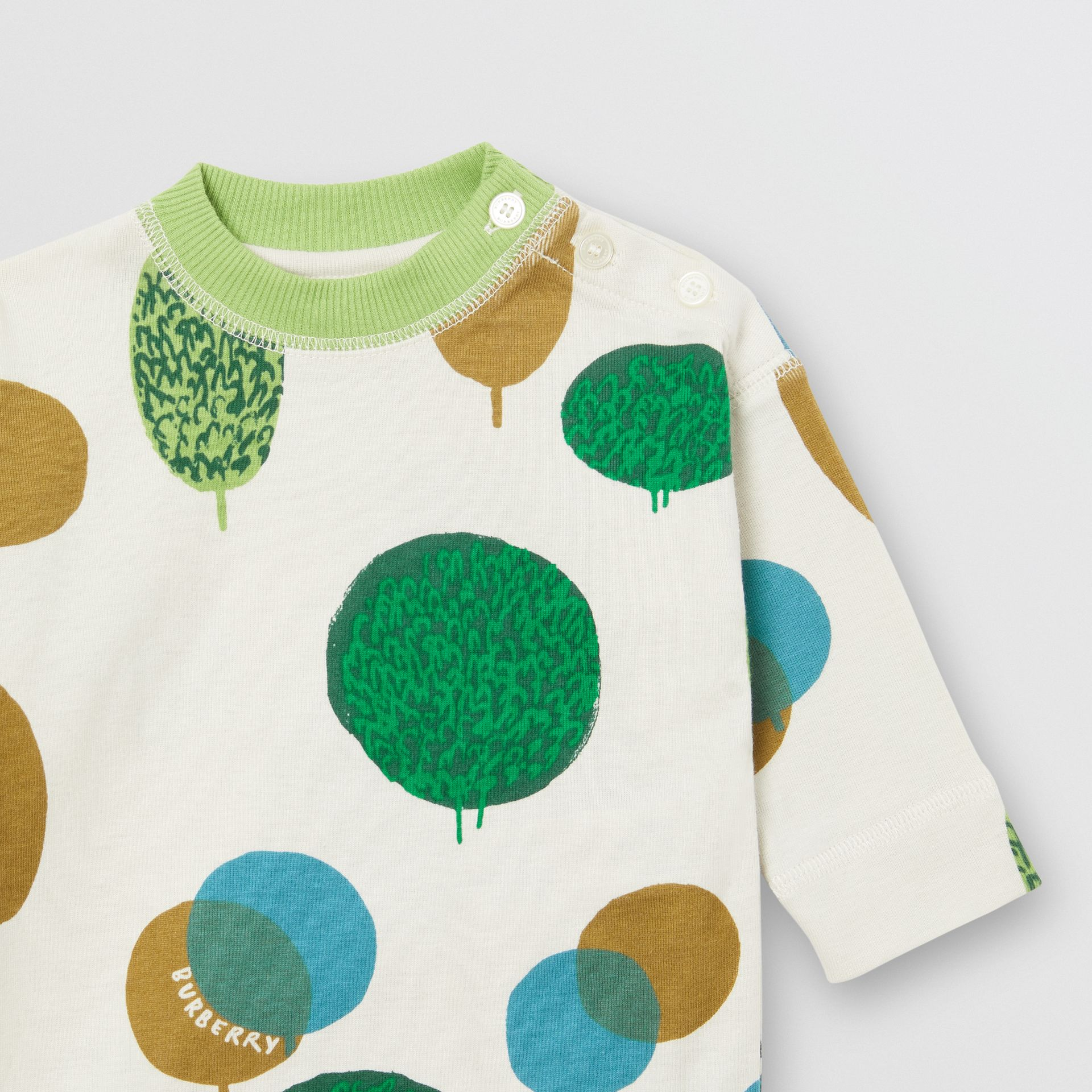 Tree and Sun Print Cotton Three-piece Baby Gift Set in Stone - Children | Burberry United Kingdom - gallery image 9