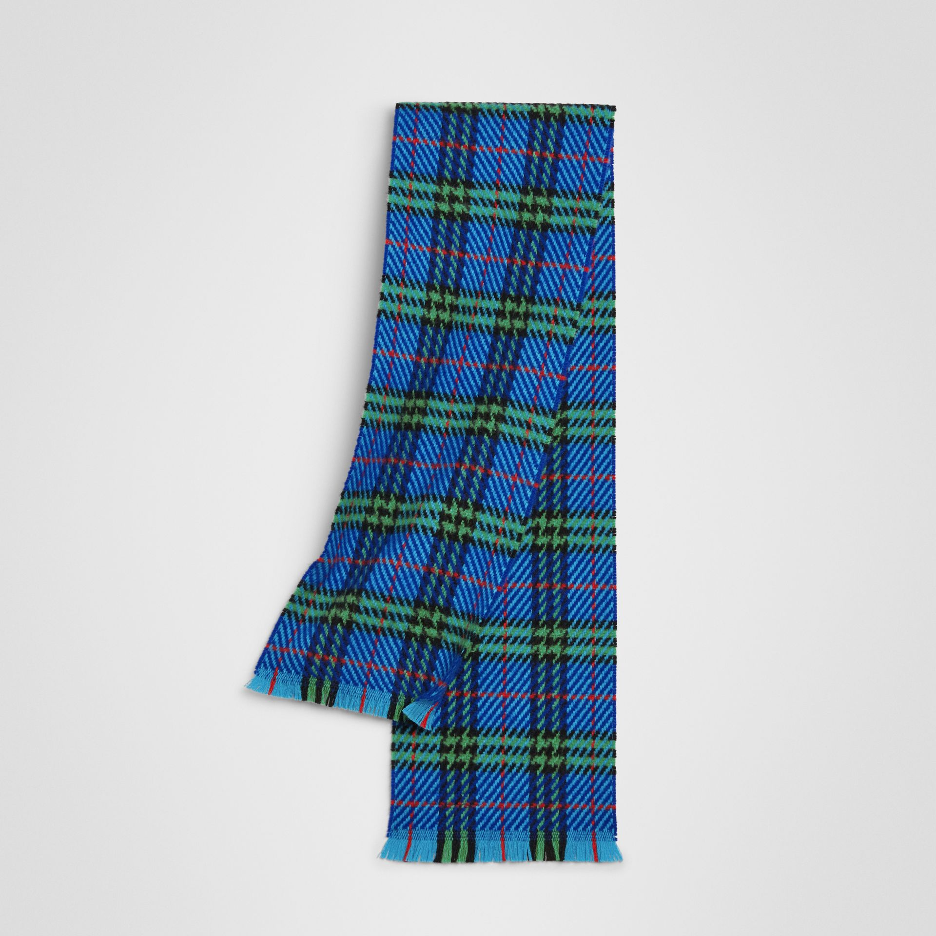Vintage Check Merino Wool Scarf in Azure Blue | Burberry - gallery image 0