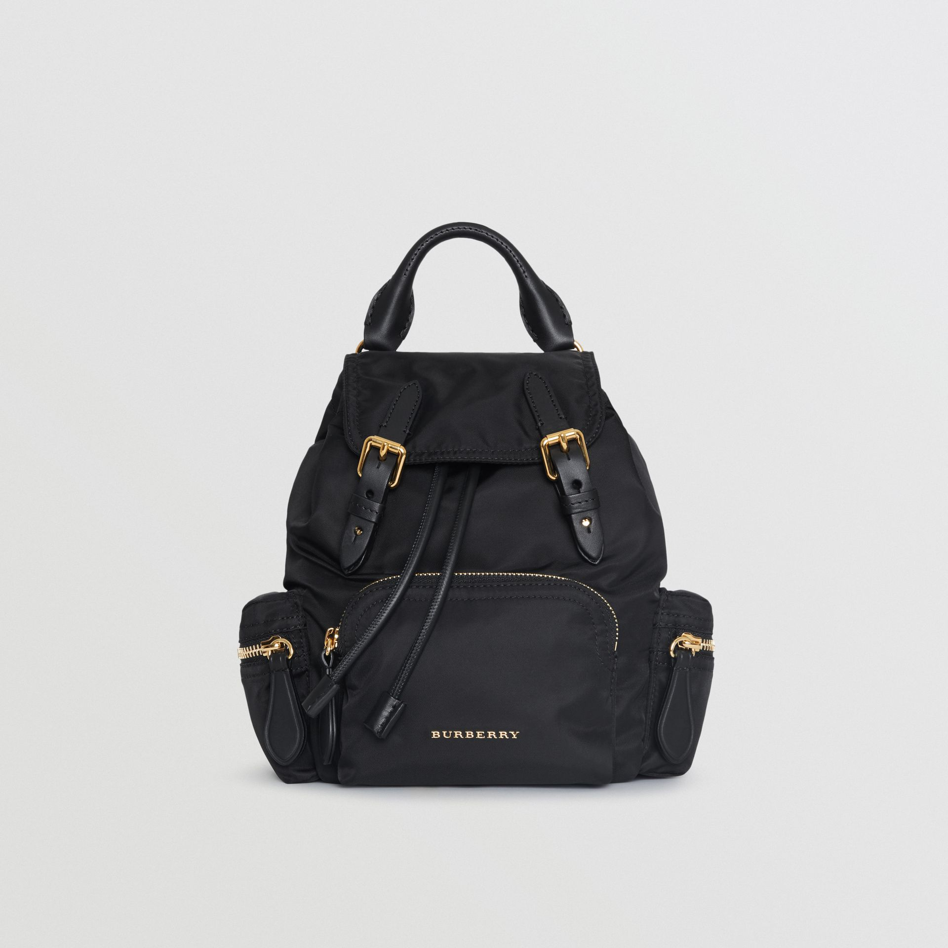 The Small Crossbody Rucksack in Nylon in Black - Women | Burberry - gallery image 0