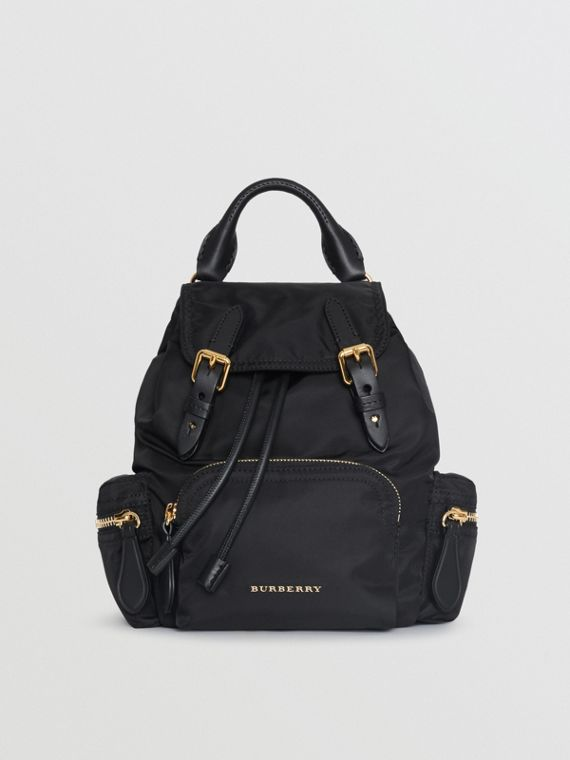 Zaino The Rucksack piccolo in nylon con tracolla (Nero)