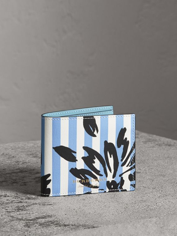 Floral Stripe Print International Bifold Wallet in Patchwork