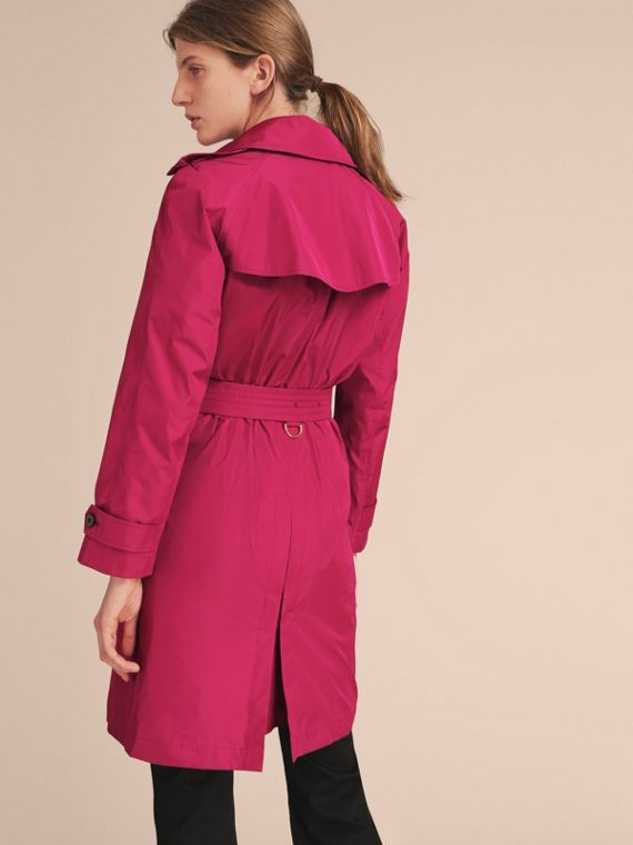 Single-breasted Technical Trench Coat Damson Magenta - cell image 2