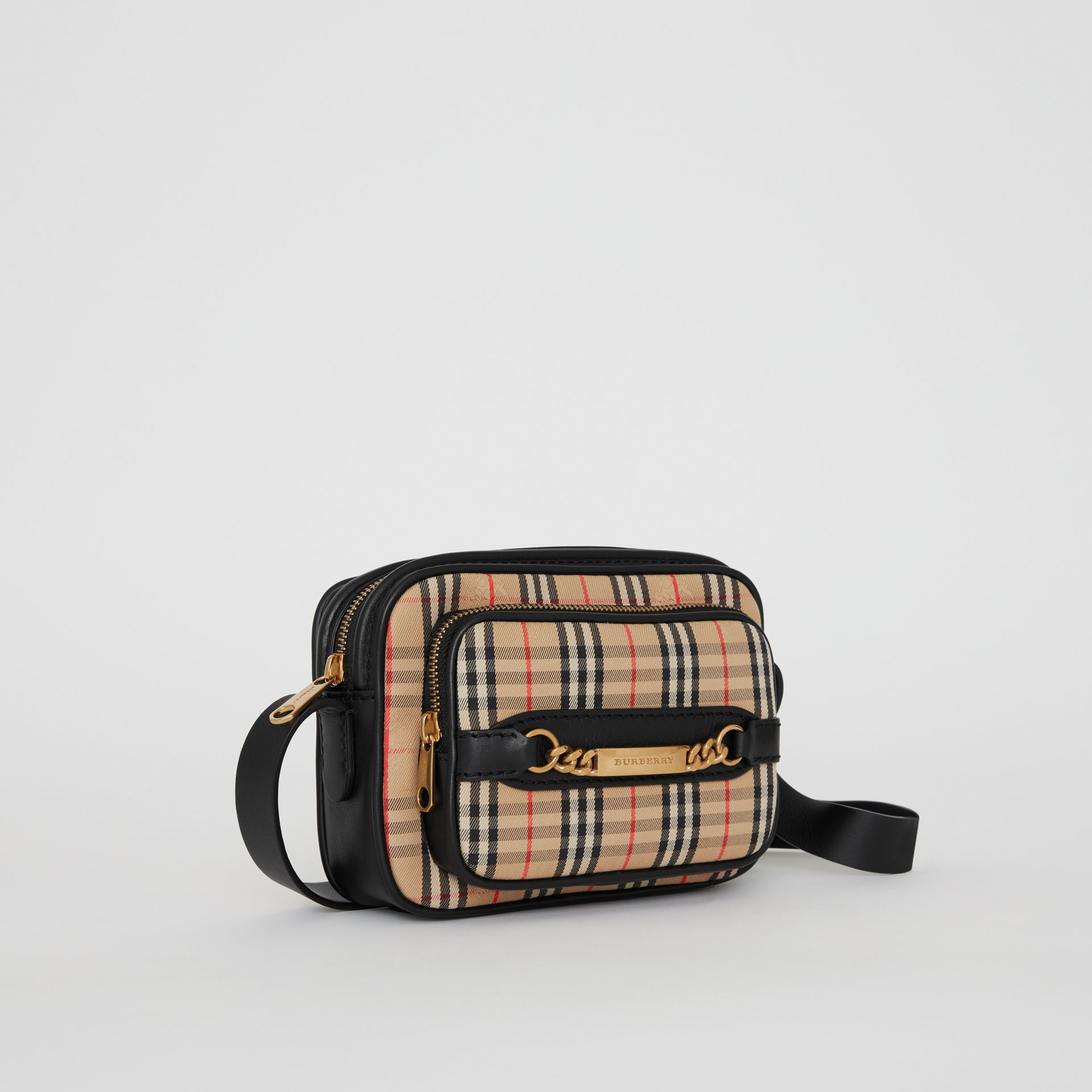 The 1983 Check Link Camera Bag in Black - Men | Burberry - gallery image 8