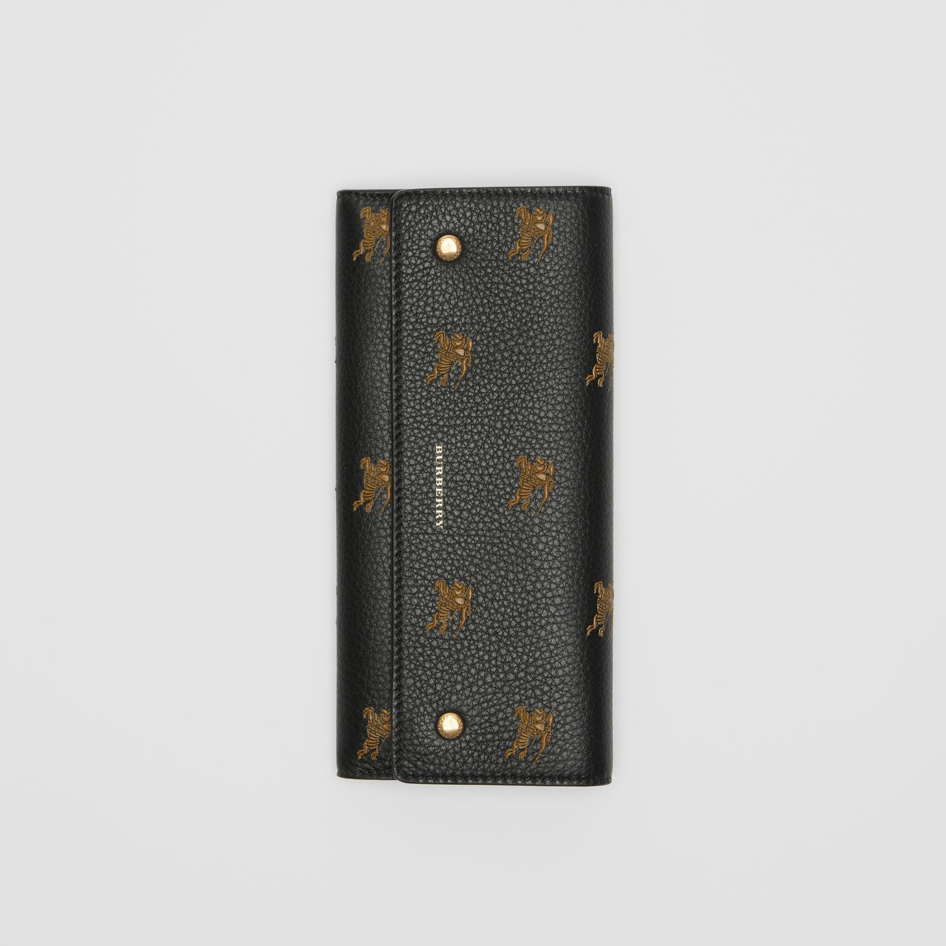 EKD Leather Continental Wallet in Black - Women | Burberry - gallery image 3