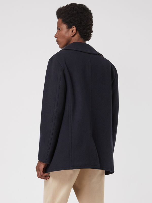 Wool Blend Pea Coat in Navy - Men | Burberry Canada - cell image 2