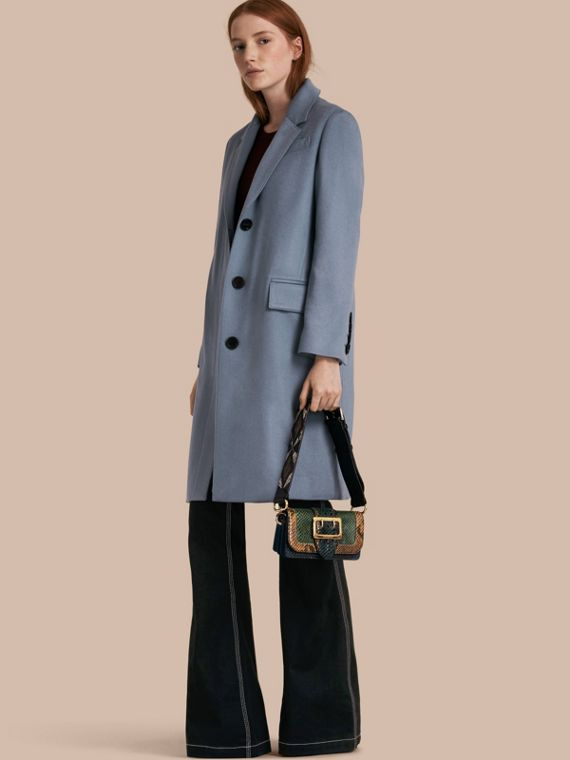 Cashmere Tailored Coat Pale Blue