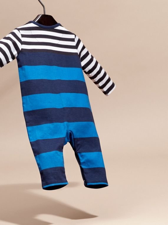 Ink blue Striped Cotton All-in-one - cell image 3