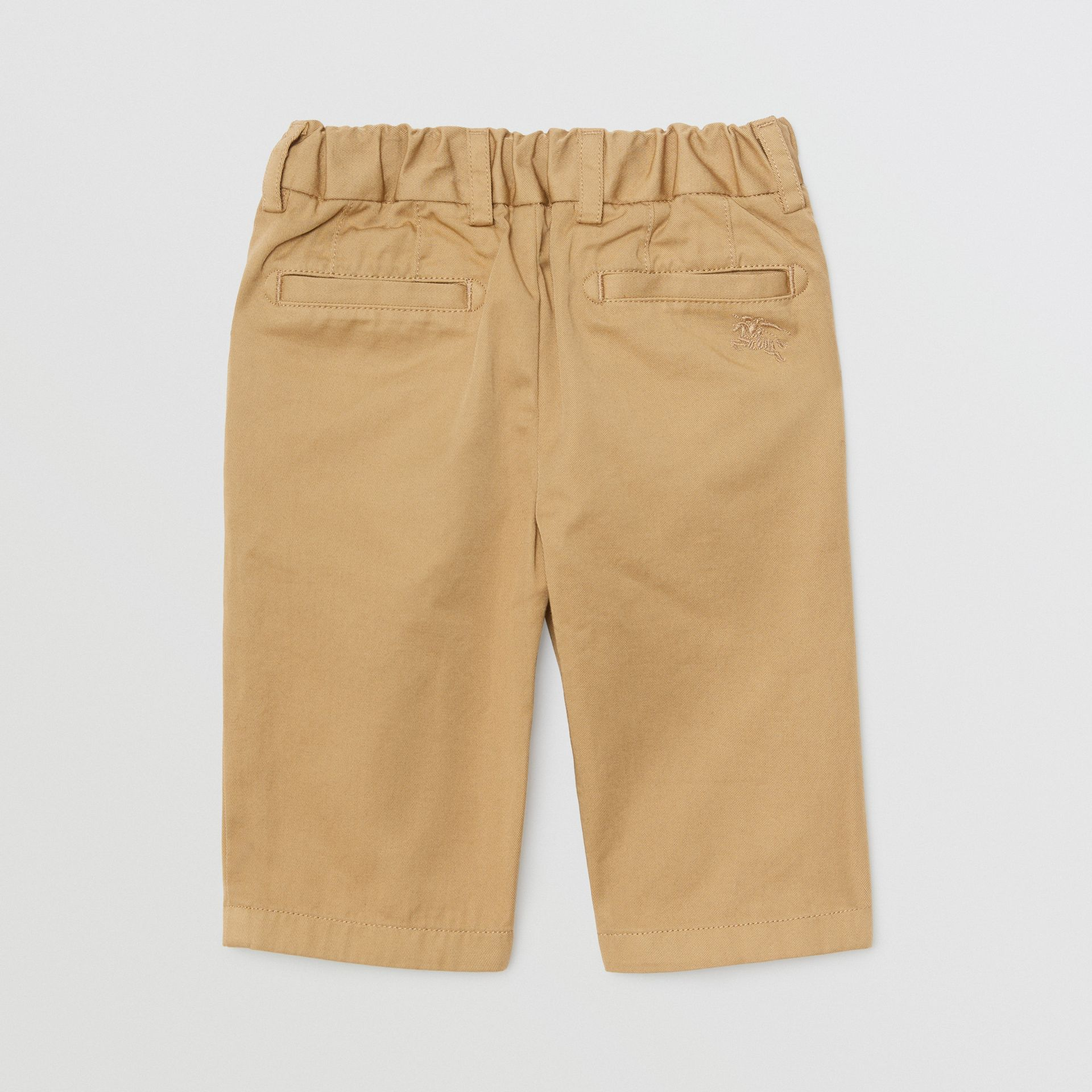 Pantalon chino en coton (Taupe) - Enfant | Burberry Canada - photo de la galerie 3